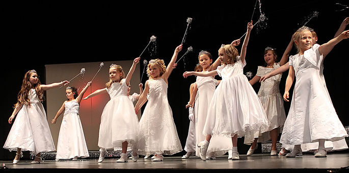 Miss Clatsop County Princesses perform during the 2014 pageant
